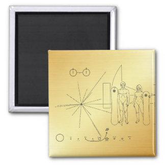 "Pioneer plaque ""Snowboarder"" Magnet"