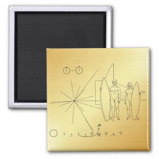 "Pioneer plaque ""Surfer"" Magnet"