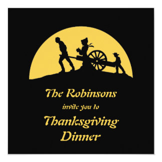 Pioneer Trek Silhouette Thanksgiving Dinner Invite