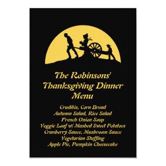 Pioneer Trek Silhouette Thanksgiving Dinner Menu 13 Cm X 18 Cm Invitation Card