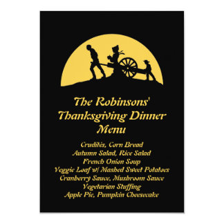 Pioneer Trek Silhouette Thanksgiving Dinner Menu Card