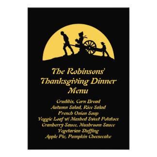 Pioneer Trek Silhouette Thanksgiving Dinner Menu Custom Invites