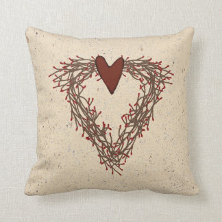 Pip Berry Heart Wreath Pillow