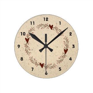 Pip Berry Hearts Wall Clock
