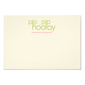 Pip Pip Hooray Product Backing Card 9 Cm X 13 Cm Invitation Card