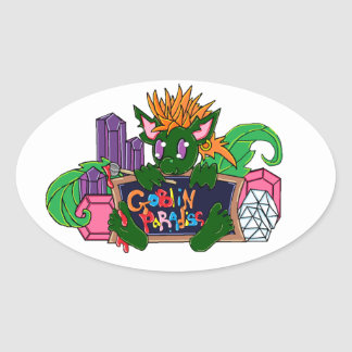 Pip the Goblin Oval Sticker