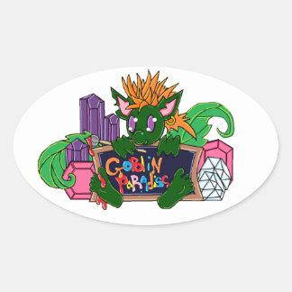 Pip the Goblin Oval Sticker