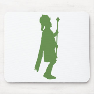 Pipe Band Leader Silhouette Mouse Pad