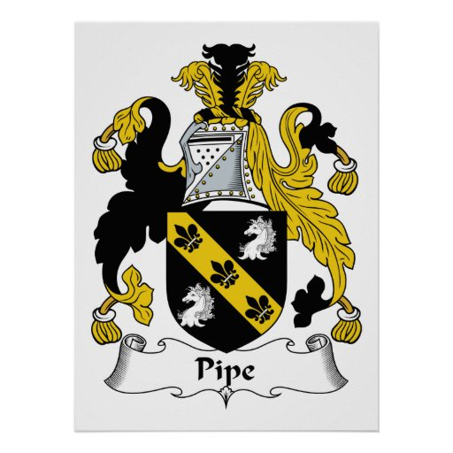 Pipe Family Crest Print