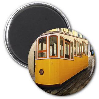 Pipe Funicular railway, Lisbon, Portugal 6 Cm Round Magnet