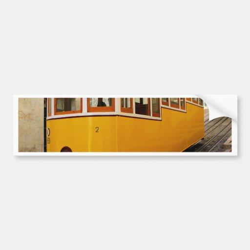 Pipe Funicular railway, Lisbon, Portugal Bumper Stickers