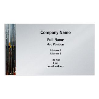 Pipe Organ Pipes - Platinum Finish Business Card