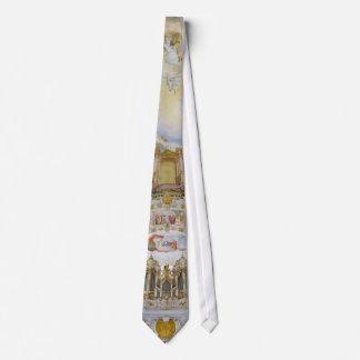 Pipe organ tie, Wieskirche, Bavaria, Germany Tie