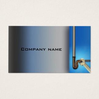 Pipe Repair Service Plumber Blue Business Card