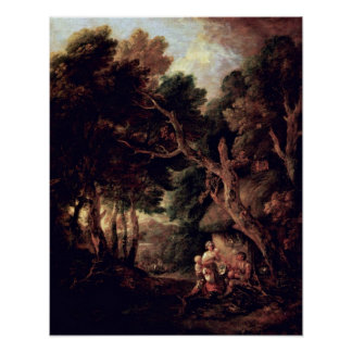 Pipe Smoking Bauer by Thomas Gainsborough Posters