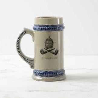 Pipe Smoking Beer Mug
