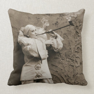 Pipe Smoking Mime 1895 Cushion