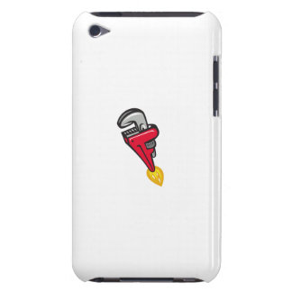 Pipe Wrench Rocket Booster Blasting Off Retro iPod Touch Case