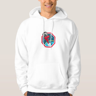 Pipe Wrench Rocket Booster Blasting Space Hexagon Hoodie