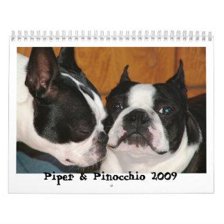 Piper & Pinocchio 2009 Wall Calendars