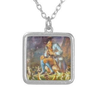 Piper Playing for Faeries Silver Plated Necklace
