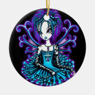 """""""Piper"""" Teal TuTu Fairy Art Ornament"""