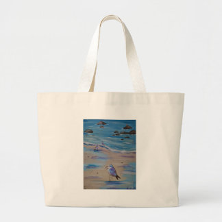 piping plovers large tote bag