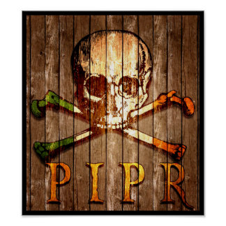 PIPR Wood Print Poster