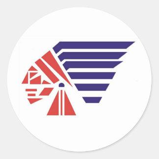Piqua Youth Football Indians Spirit Wear Classic Round Sticker