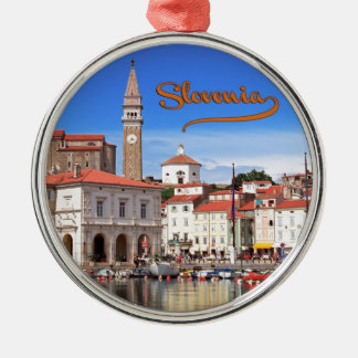 Piran,Slovenia Metal Ornament