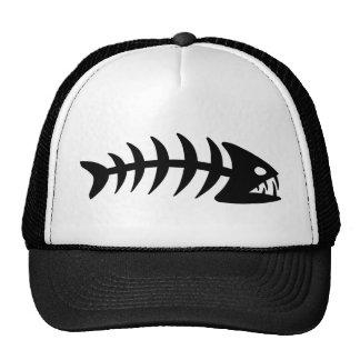 Piranha Fish Bone Mesh Hats