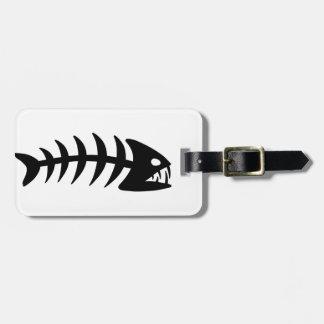 Piranha Fish Bone Luggage Tag