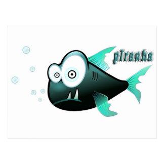 Piranha Postcard