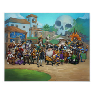 Pirate101 Skull Island Roster Poster