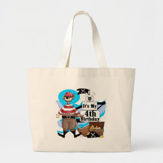 Pirate 4th Birthday Tshirts and Gifts Canvas Bag