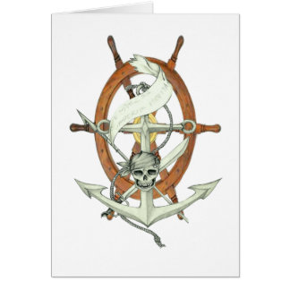 Pirate Anchor and Steering Wheel Card