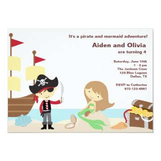 PIrate and Mermaid Invitations