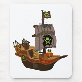 Pirate Andy on a Ship Mouse Pad