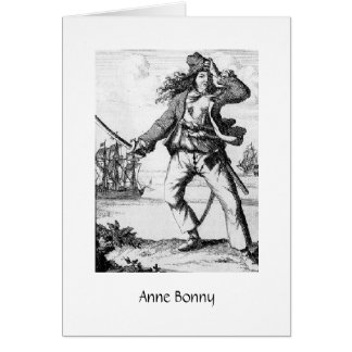Pirate Anne Bonny Card