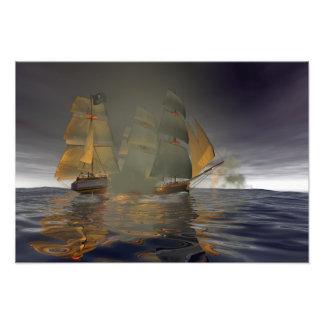 Pirate Attack Photographic Print