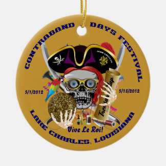 Pirate Auto Dual Logo Bicentennial  Pls View Notes Christmas Tree Ornaments