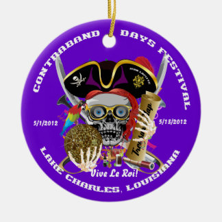Pirate Auto Dual Logo Bicentennial  Pls View Notes Christmas Tree Ornament