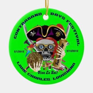 Pirate Auto Dual Logo Bicentennial  Pls View Notes Christmas Ornaments