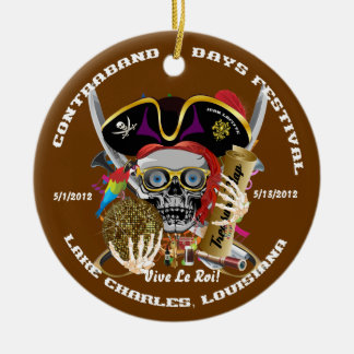 Pirate Auto Dual Logo Bicentennial  Pls View Notes Christmas Ornament