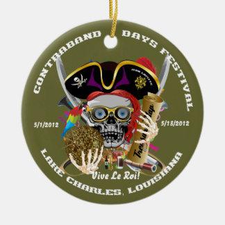 Pirate Auto Dual Logo Bicentennial  Pls View Notes Ornament
