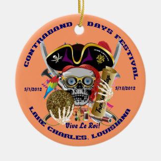 Pirate Auto Dual Logo Bicentennial  Pls View Notes Round Ceramic Decoration