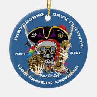 Pirate Auto Dual Logo Bicentennial  Pls View Notes Round Ceramic Decoration