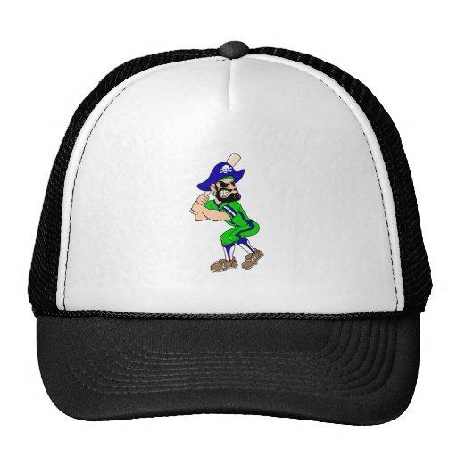 Pirate Baseball Player Trucker Hats