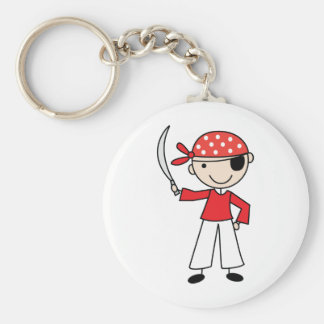 Pirate Basic Round Button Key Ring