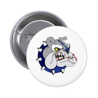 Pirate Beastly Bulldog Zombie 6 Cm Round Badge